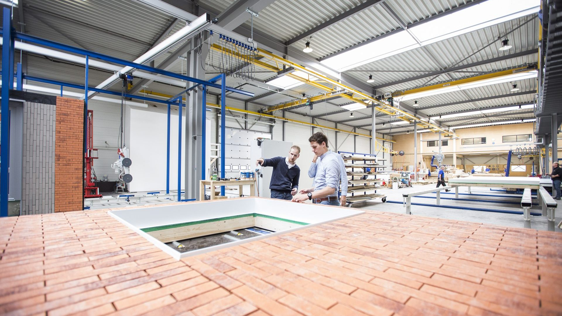 In de fabriekshal