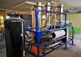 Pyrolyze machine voor afvalmotorolie